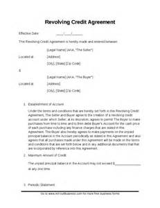Credit Agreement Format Sle Revolving Credit Contract Hashdoc