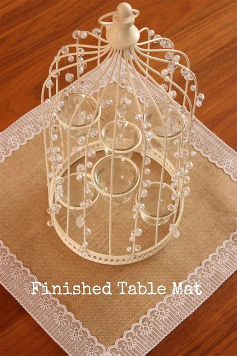 diy tutorial burlap and lace table mats boho weddings