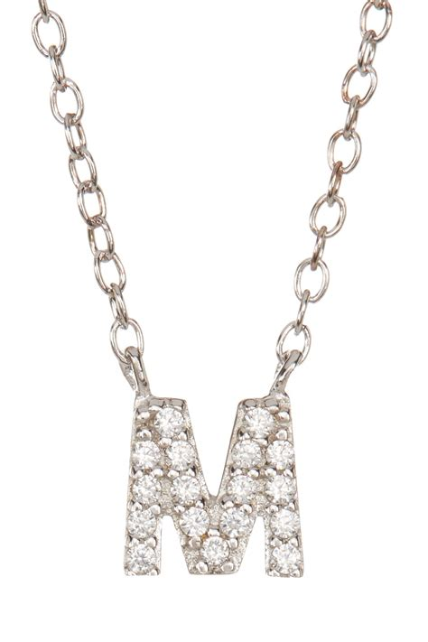 Nordstrom Rack Sterling by Nordstrom Rack Sterling Silver Pave Cz M Initial