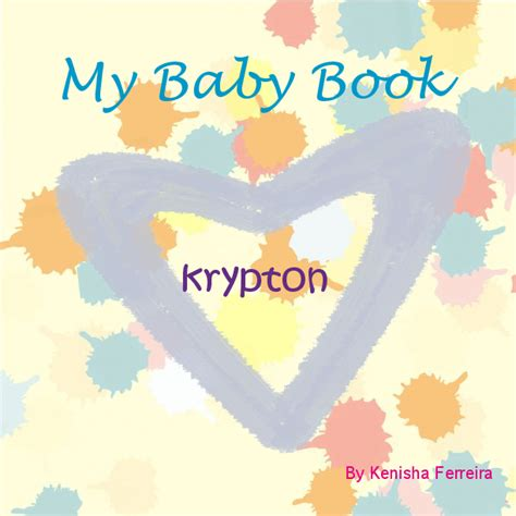 My Baby Book my baby book krypton book 292961 bookemon