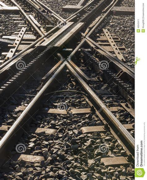 ferrovia a cremagliera ferrovia a cremagliera dell incrocio immagine stock