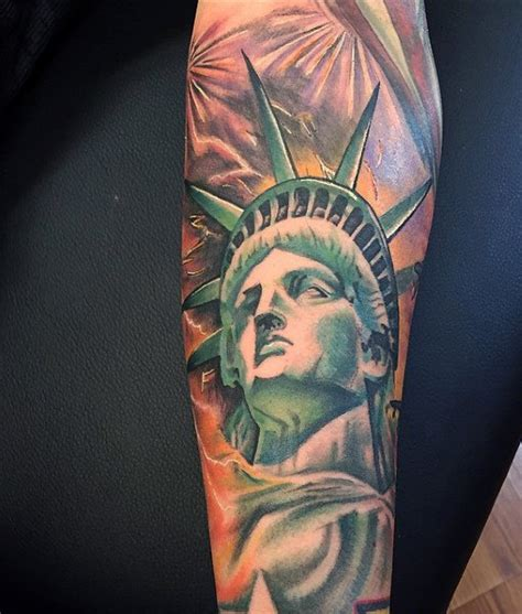 liberty tattoos 70 statue of liberty designs for new york city