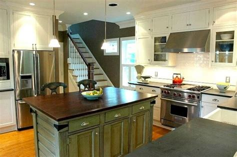 Green Red Kitchen Island For The Home Pinterest