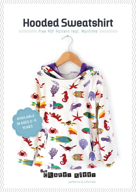 sweatshirt pattern free sewing tutorial and free pdf pattern hooded sweatshirt