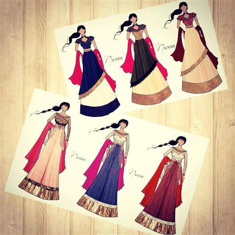 fashion illustration lehenga beautiful bridal lehenga pencil sketch axing sketches