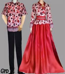 model baju batik kombinasi wanita dan pria kicantik