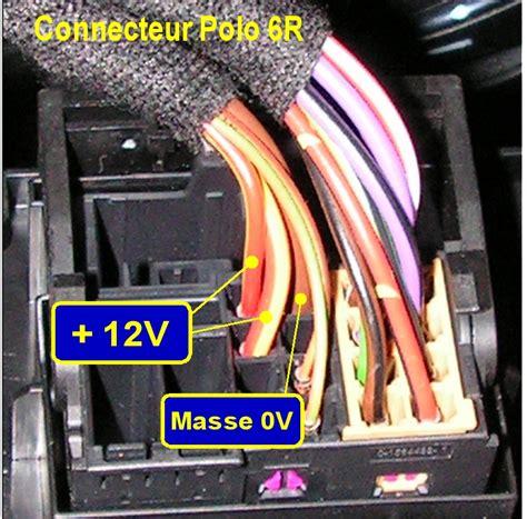 formidable fils electrique de couleur 6 autoradio prise branchement autoradio polo