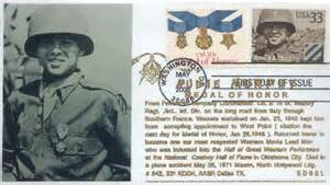 Audie Murphy Medal Of Honor Medal Of Honor Recipients Fdcs