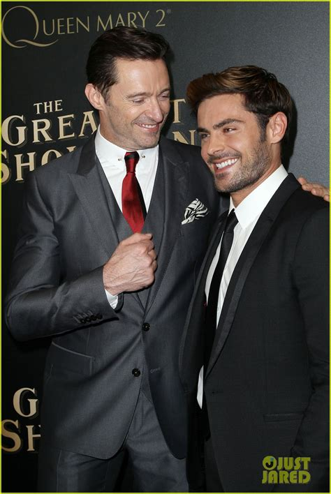 zac efron and hugh jackman zendaya stuns at the greatest showman premiere alongside