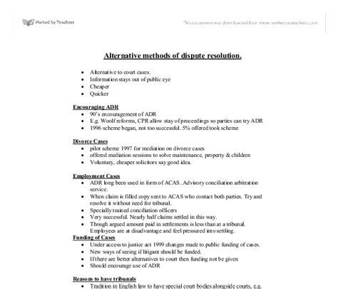 Alternative Dispute Resolution Essay by Sle Essay About Alternative Dispute Resolution Essay