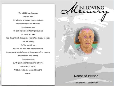 memorial card template 9 free funeral program template microsoft wordagenda