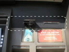 here s what a card skimmer looks like on an atm consumerist