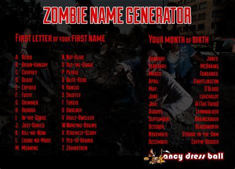 halloween themed team names blog for fancy dress costumeszombie name generator blog