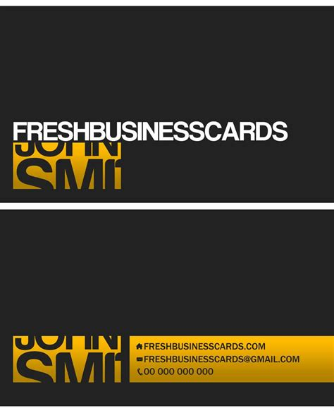 Personal Calling Card Template by Css 2014 100 Free Business Cards Psd