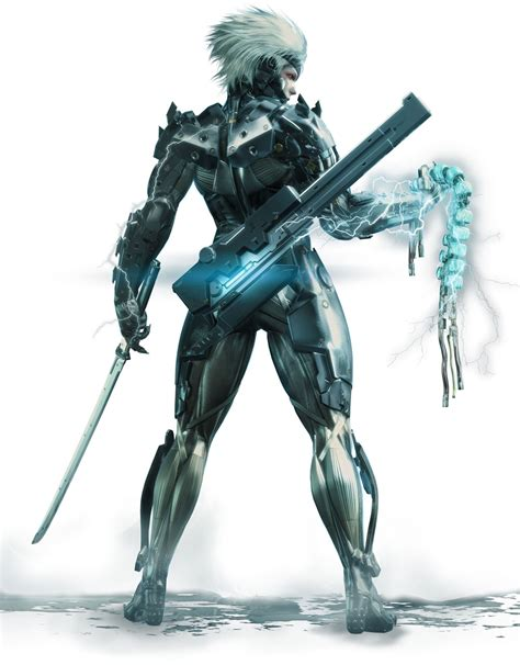 Kaos Raiden Metal Gear Rising raiden holding spine artwork