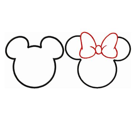 minnie mouse bow template joy studio design gallery