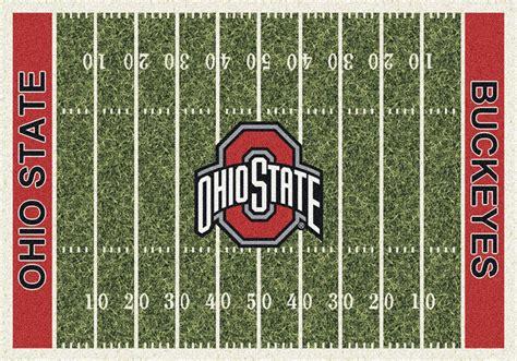 ohio state area rug ohio state buckeyes home field area rug football logo
