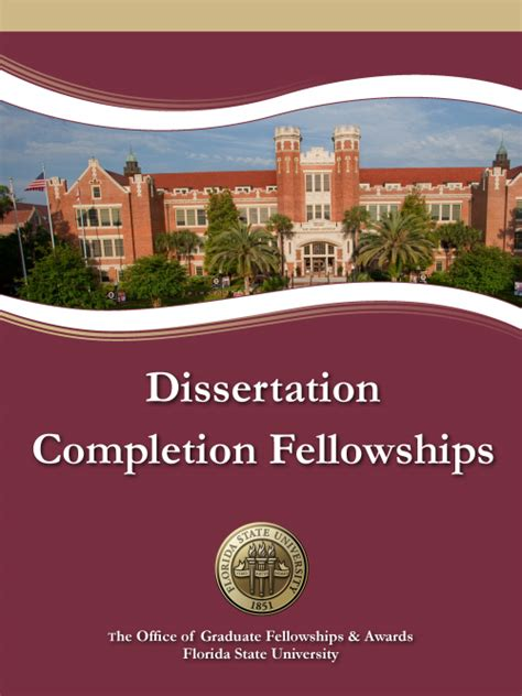 dissertation completion fellowship publications office of graduate fellowships and awards