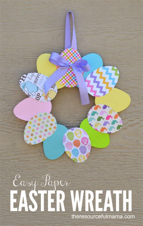 Easter Pattern Pinterest | easy paper easter wreath easter crafts easter and wreaths
