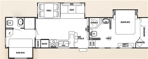 2 bedroom rv floor plans cers with 2 bedrooms