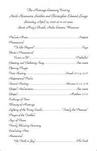 Wedding Program Examples Wording » Home Design 2017