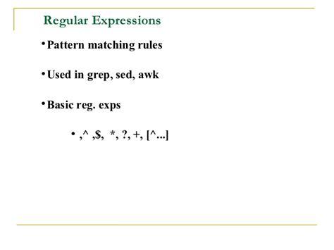 pattern matching sed shell scripting