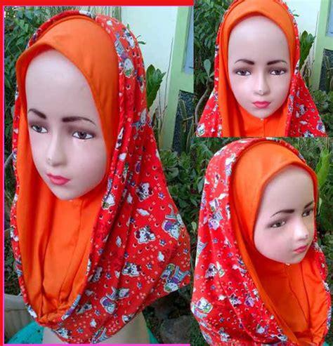 Kerudung Anak Frozen Grosir Jilbab Anak Hoddie Hello 1 3 Th My