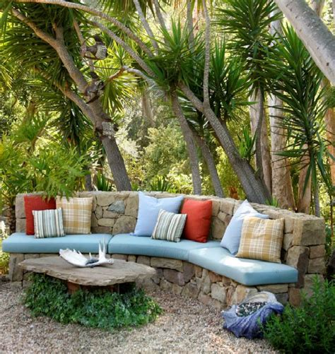 outdoor seating area stone outdoor seating area patio garden pinterest