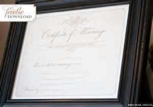 keepsake marriage certificate template 12 best images of keepsake birth certificate template