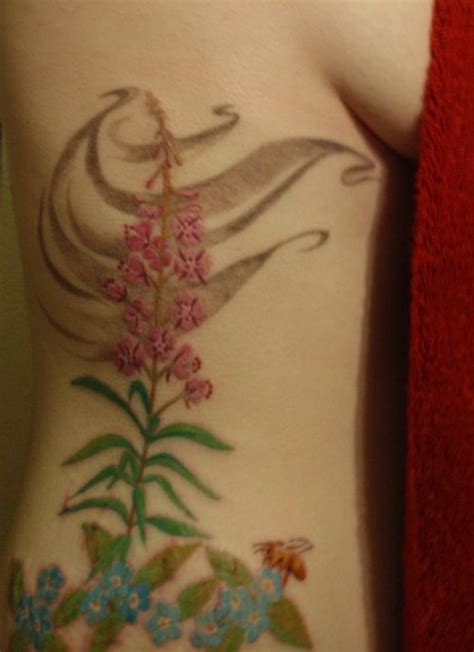 alaskan tattoos alaska flowers fireweed and forget me nots ink