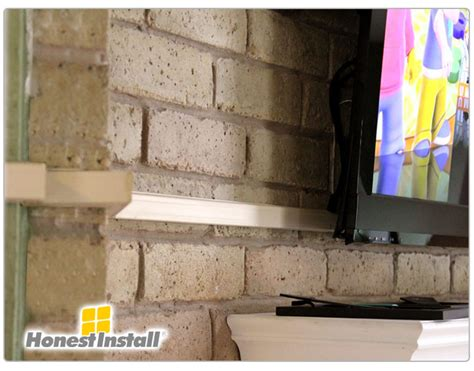 how to hide tv wires brick fireplace commercial work honest install tv installation home