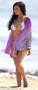 Kaftan Mila Purple wright parades in a skimpy as