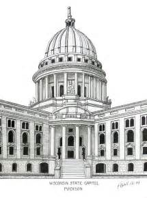 Architectural Plans For Sale wisconsin state capitol drawing by frederic kohli