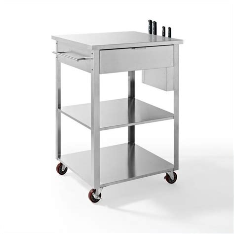 Stainless Steel Kitchen Carts by Crosley Culinary Prep Kitchen Cart In Stainless Steel