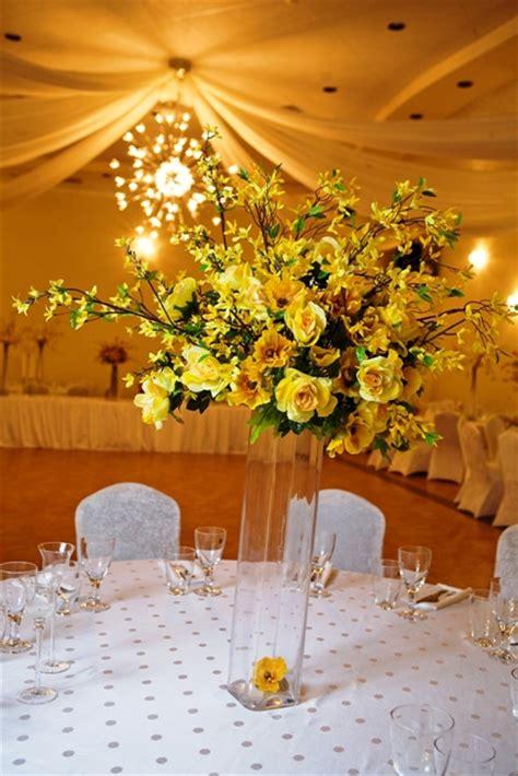 large centerpieces large yellow bouquet centerpiece demers banquet