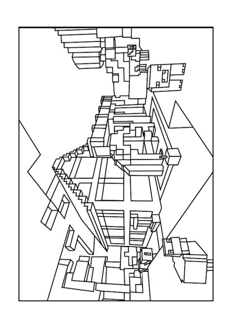 coloring pages of minecraft houses world minecraft coloring pages free printable minecraft