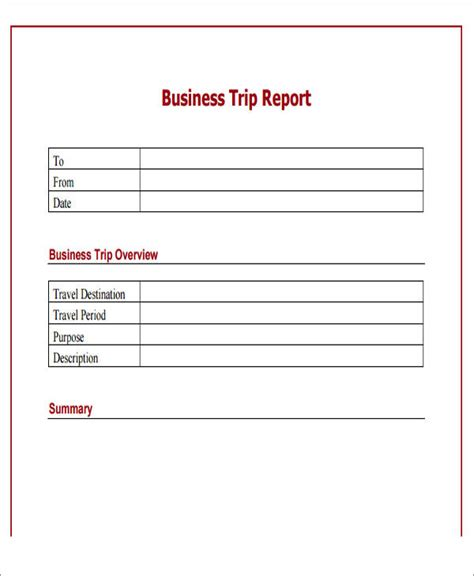 travel report template 10 sle business report free sle exle format