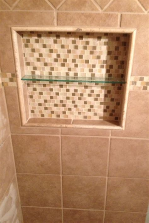 recessed built in tiled shower shelf s bath reno