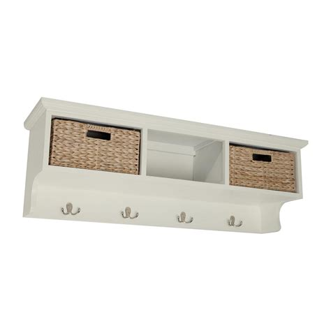 Shelf With Storage by Wall Storage Shelves With Baskets Best Decor Things