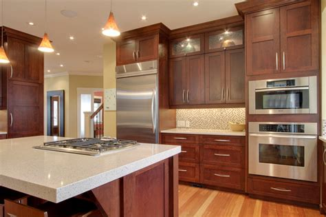 Granite With Cherry Cabinets In Kitchens Best Granite Countertops For Cherry Cabinets