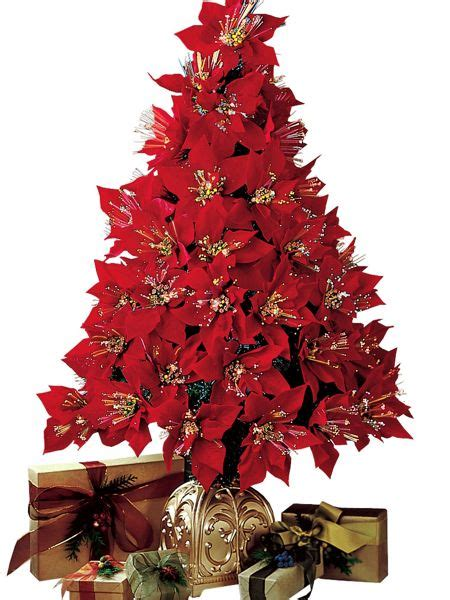 poinsettia fiber optic christmas tree images
