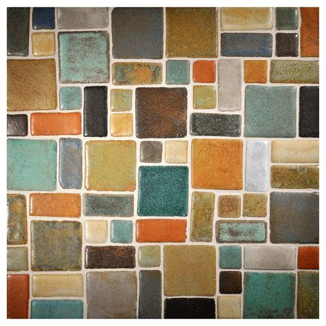Ceramic Mosaic Tile Prodigy Ceramic Mosaic Tile Random Blend Original
