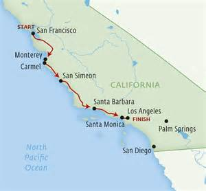 map of california coast los angeles to san francisco pacific coast highway san diego to los angeles map