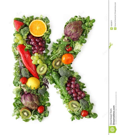vitamin h vegetables fruit and vegetable alphabet stock image image 18920871