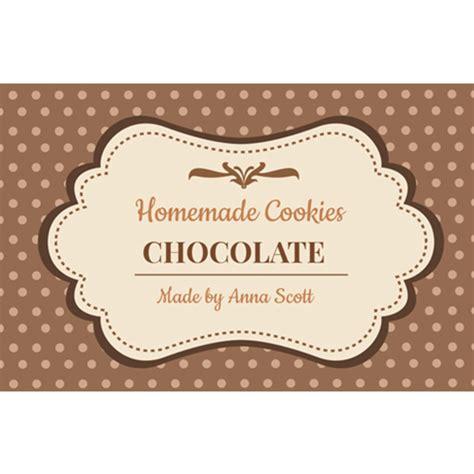 design label cookies pink cookie label