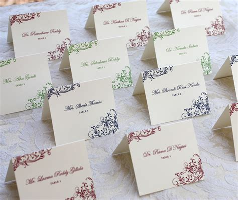 wedding table name cards template wedding reception cards invitations by ajalon