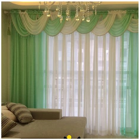 Waterfall Valances For Living Room Aliexpress Buy Curtains For Living Room Modern Sheer