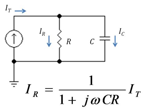 voltage divider for capacitor current divider