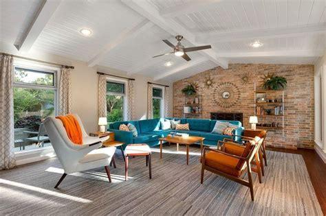 Mid Century Moderne Wohnzimmer by Die Besten 25 Midcentury Ranch Ideen Auf