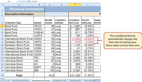 Rule 1 Investing Spreadsheet by Logical And Lookup Functions